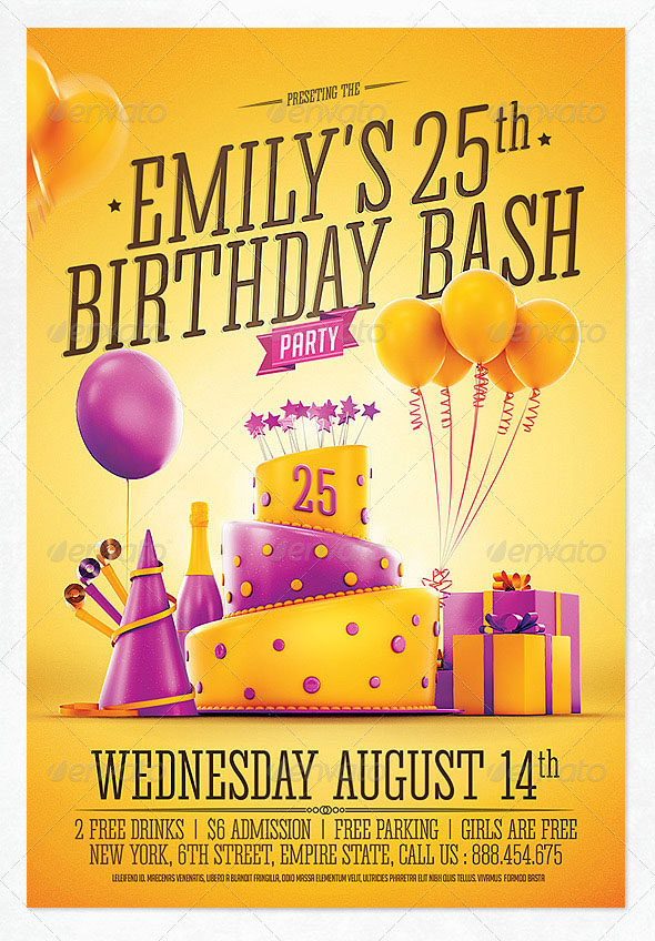 45+ Free Birthday Invite Templates in PSD! | Free PSD Templates