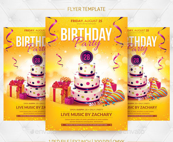 Birthday Party Flyer Template 1 Psd File