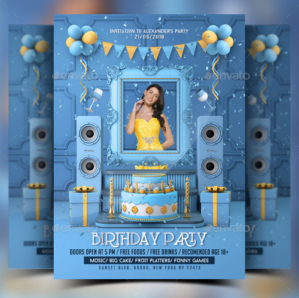 80 Free Birthday Invite Templates In Psd Premium Invites Free Psd Templates