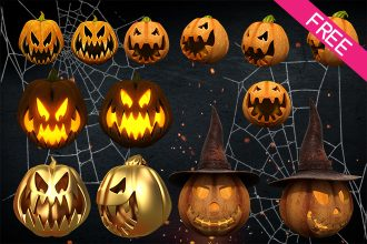 HALLOWEEN PUMPKIN 3D render – Free stock images