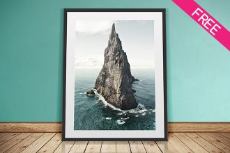 Free Artwork Frame Mockup IN PSD