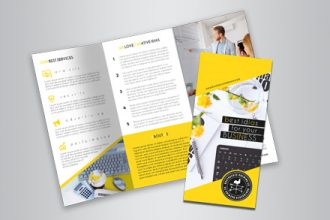 Free Business Tri-Fold Brochure Psd Template