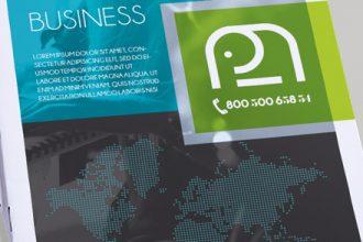 Free Startup Business Bi-Fold PSD Brochure Template