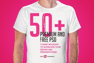50+Premium & Free PSD T-Shirt Mockups to showcase your Design and Presentations!