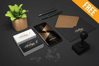 Business Stationery – 3 Free PSD Mockups