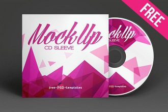 Free CD Sleeve Mock-up in PSD