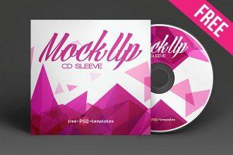 Free CD Sleeve Mockup (PSD)