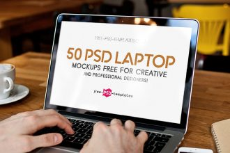 50 PSD Laptop Mockups Free for creative and professional designers!