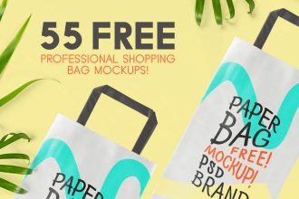 55 Free Professional Shopping Bag Mockups!