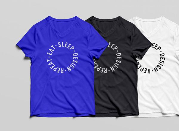 free tshirt mockup psd