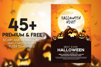 45+PREMIUM & FREE SCARY AND HORROR PSD HALLOWEEN PARTY FLYER TEMPLATES!
