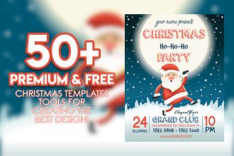 50+PREMIUM & FREE CHRISTMAS TEMPLATES TOOLS FOR CREATING THE BEST DESIGN!
