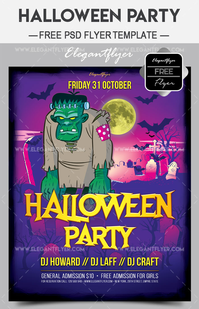 45 premium free scary and horror psd halloween party flyer