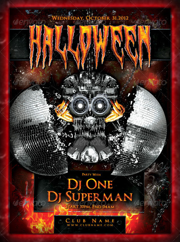 45+PREMIUM & FREE SCARY AND HORROR PSD HALLOWEEN PARTY FLYER ...