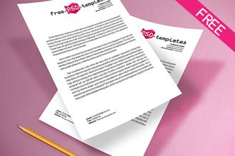 Free A4 Paper Mockup IN PSD