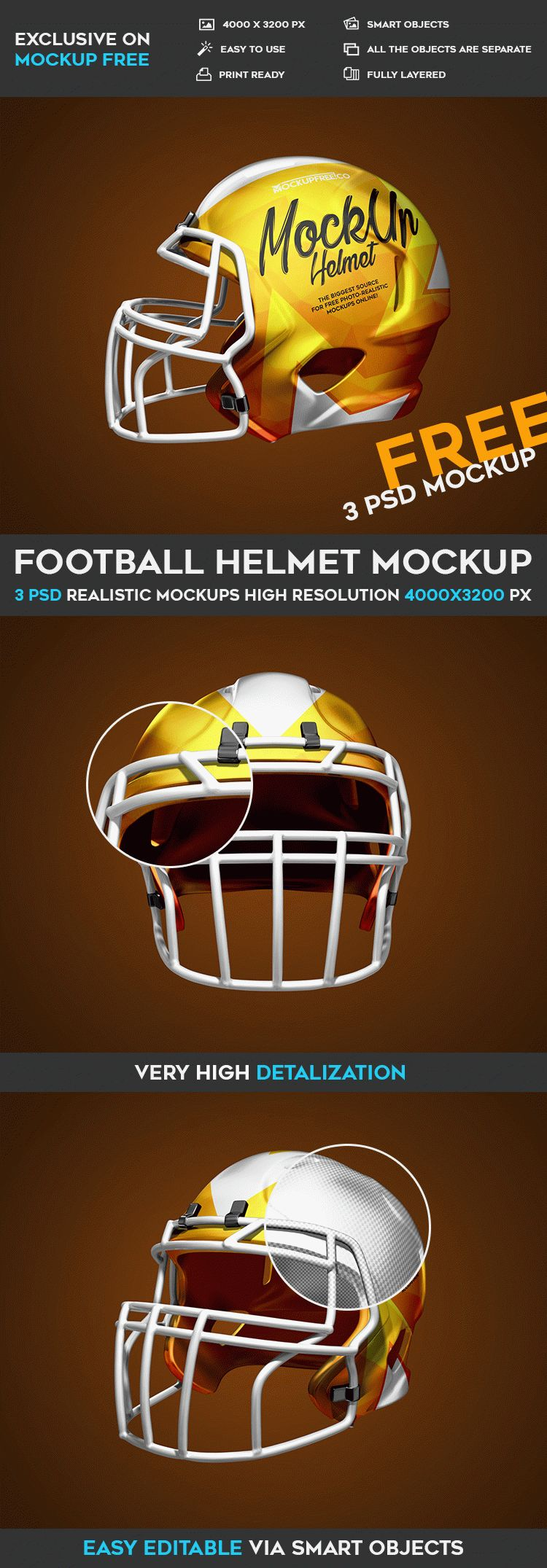 football helmet 3 free psd mockups free psd templates