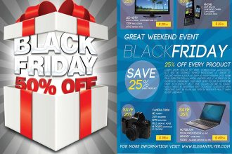 25+ Free PSD Black Friday Sale business templates to download!
