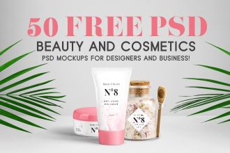 50+ Free PSD Beauty & Cosmetics PSD Mockups for designers and business!