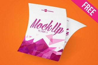 3 Free Flyer Mock-ups in PSD