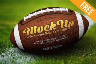 American Football Ball – Free PSD Mockup