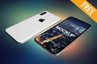 iPhone X – 2 Free PSD Mockups