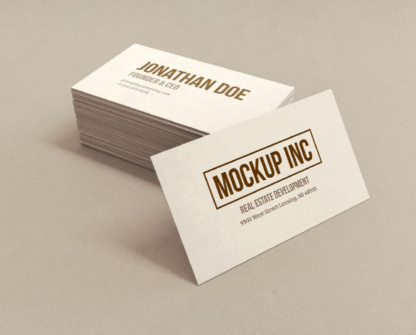 30 free psd business cards mockups for businessmen and companies you can edit the design on both these items so you can showcase both your front and back business card designs the file is in psd format reheart Images