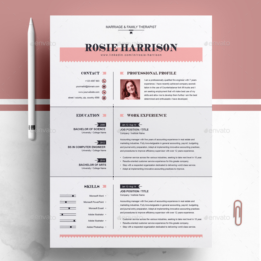 60+PREMIUM & FREE PSD CV/ RESUME TEMPLATES + COVER LETTERS TO ...