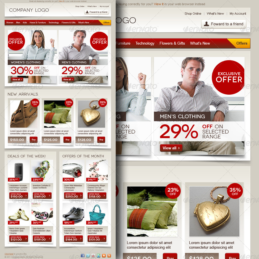 43+Premium & Free Ecommerce PSD Templates to create the Best Online
