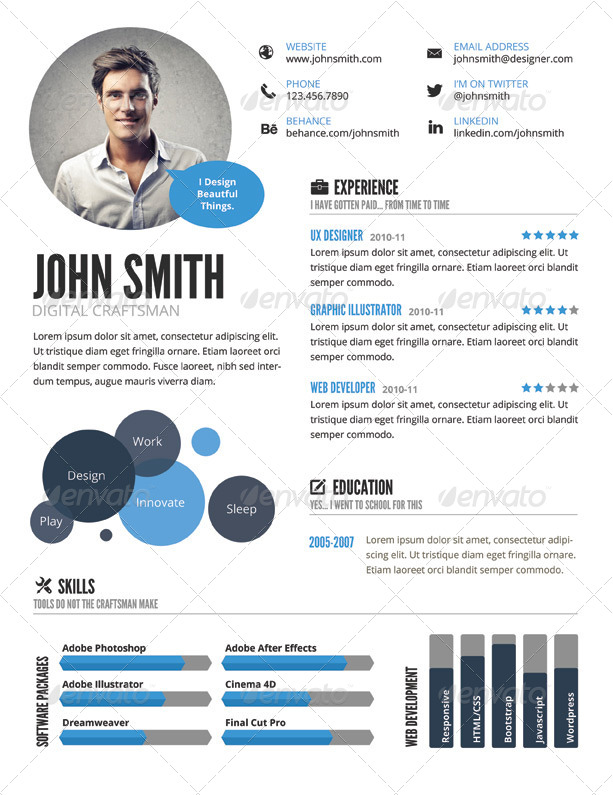 50 Premium Free Psd Cv Resume Templates Cover Letters To