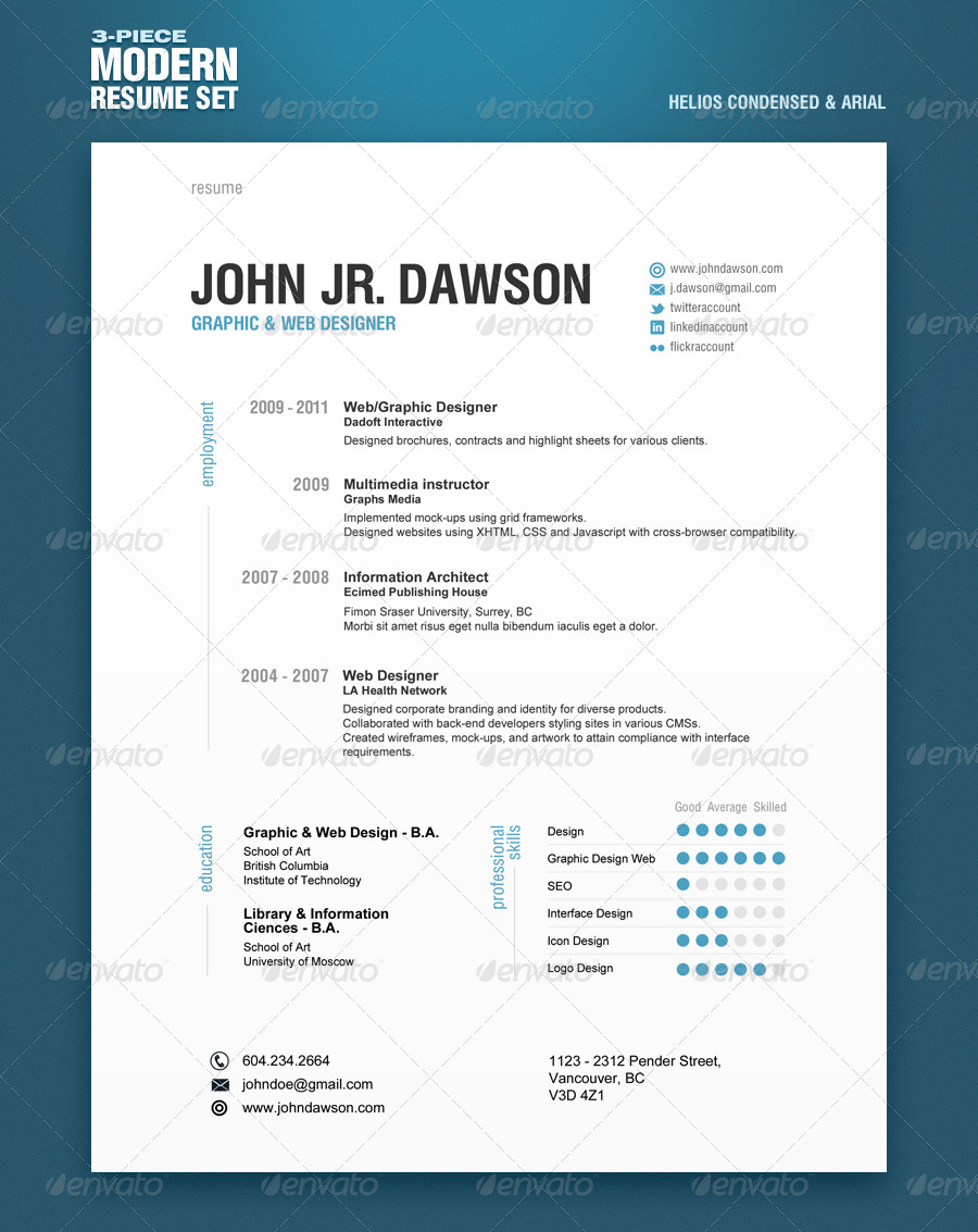 50+PREMIUM & FREE PSD CV/ RESUME TEMPLATES + COVER LETTERS TO ...