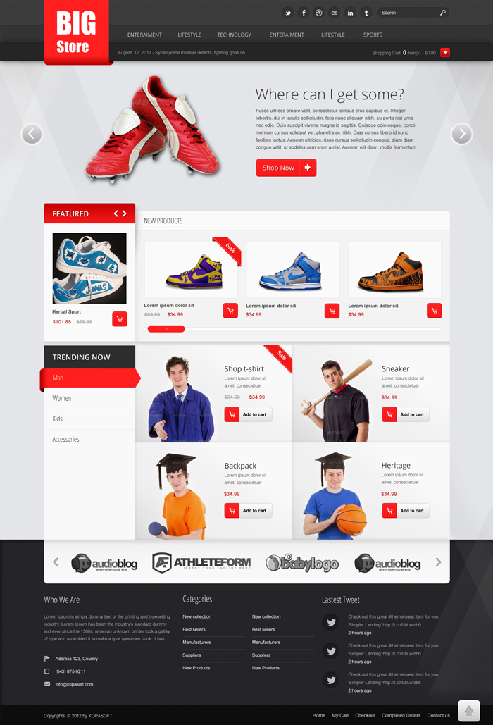 43 Premium Free Ecommerce Psd Templates To Create The Best Online