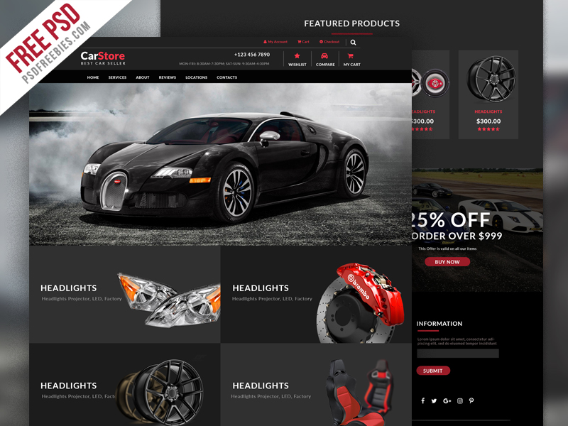 40 premium free ecommerce psd templates to create the best online