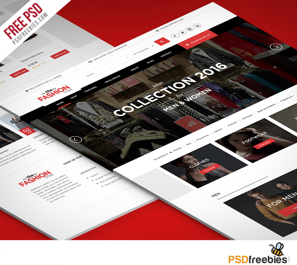 30 Free Ecommerce Psd Templates To Create The Best Online Shop