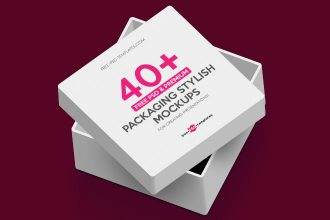 40+ Free PSD & Premium Packaging Stylish Mockups for Creating Presentations!