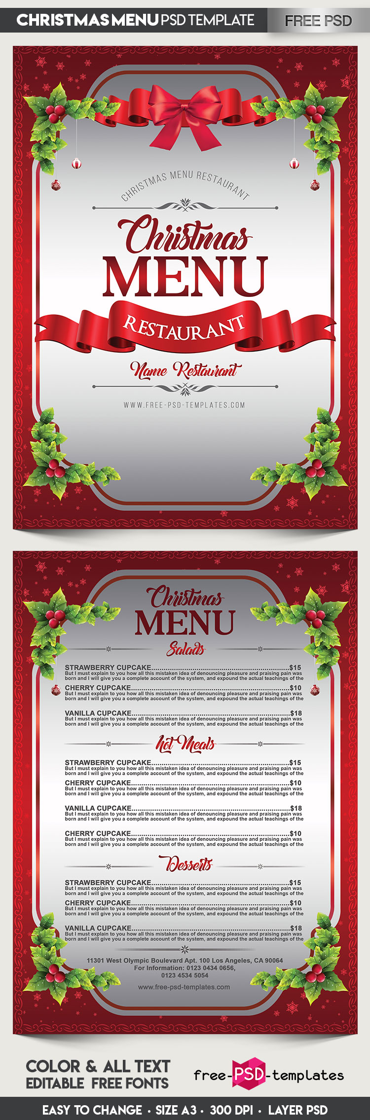 Christmas menu template eliolera printable tartan menu template for professional apology letter pronofoot35fo Image collections