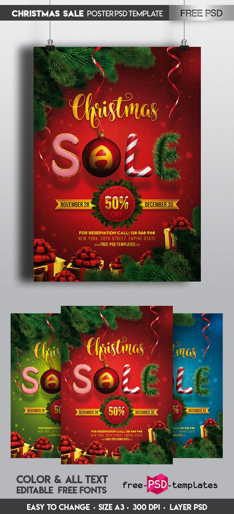 free christmas psd templates free christmas psd