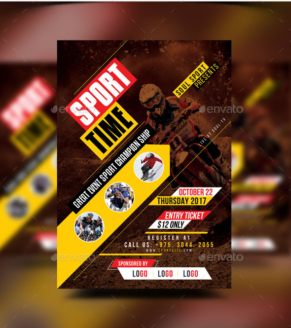 Soccer Game Day Flyer Template Sports Graphic Design