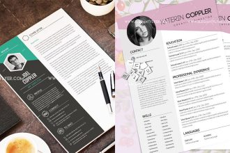 30 Free PSD CV/ Resume Templates + Cover Letters to download!