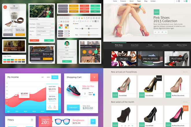 30 free ecommerce psd templates to create the best online shop, Shoe Boutique Powerpoint Presentation Free Template, Presentation templates