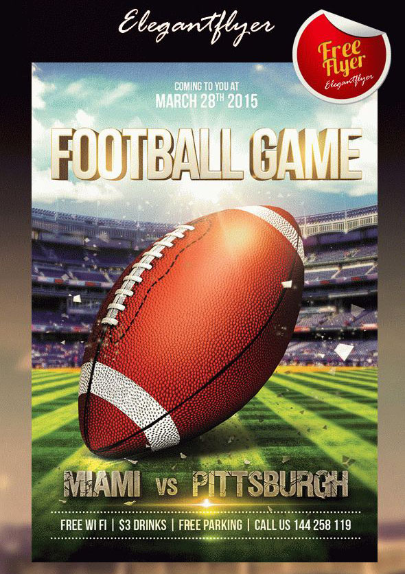 free super bowl flyers templates