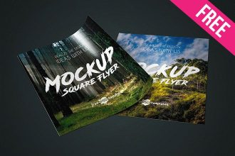 2 Free Square Flyer Mock-ups in PSD