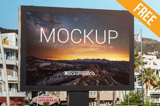 Outdoor Billboard – Free PSD Mockup