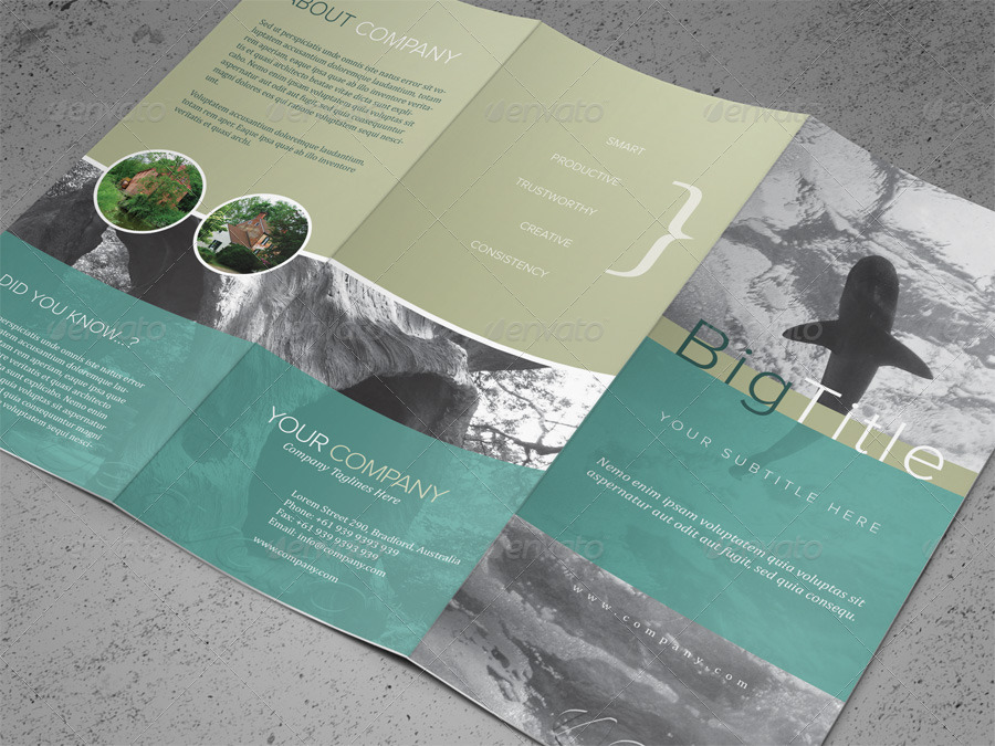 FREE PSD TriFold Brochure Templates For Business And - Tri fold brochures templates