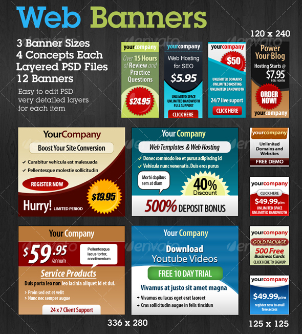 25+ Free PSD Sets of Website and App Banners for professionals ...