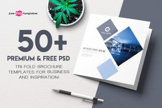 50+PREMIUM & FREE PSD TRI-FOLD BROCHURE TEMPLATES FOR BUSINESS AND INSPIRATION!