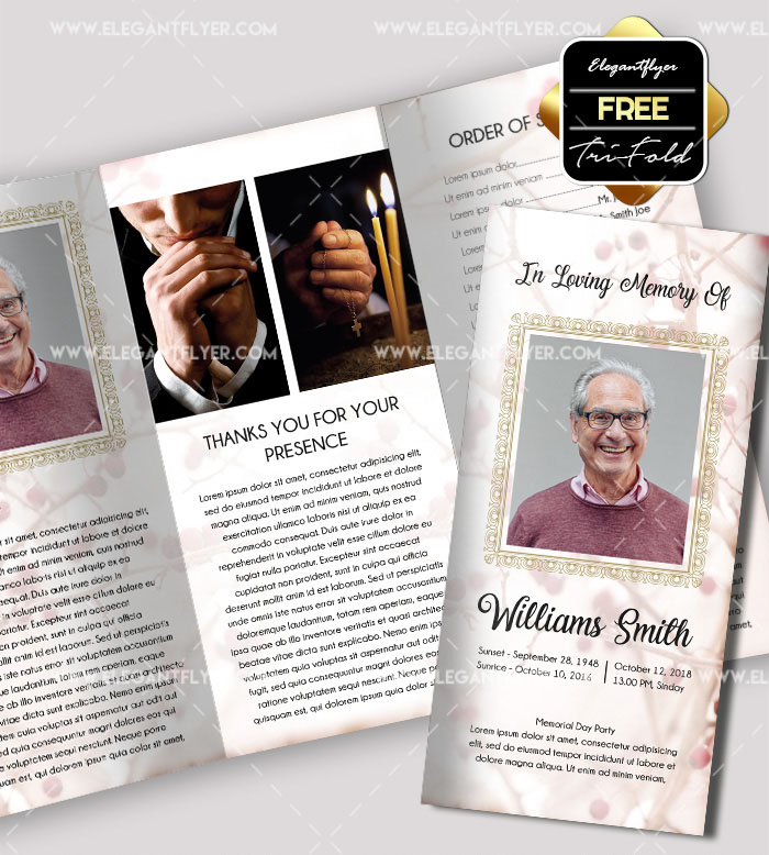 50 premium free psd tri fold brochureb templates for for Funeral brochure templates free