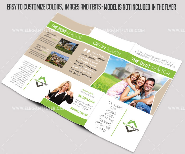 FREE PSD TriFold Brochure Templates For Business And - Real estate tri fold brochure template