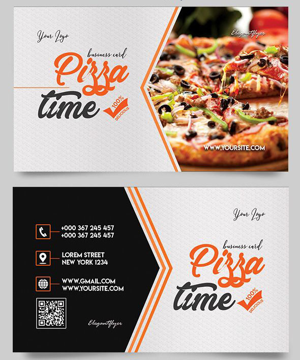 free business card food templates gallery card design