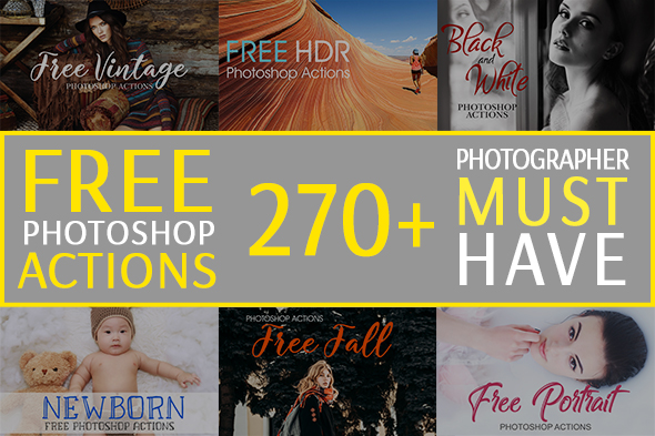 30+ Free Creative & Stylish Photoshop Actions for Graphic Designers