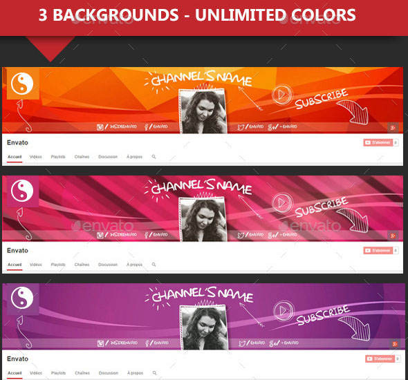 36+PREMIUM & FREE PSD YOUTUBE CHANNEL BANNERS FOR THE BEST